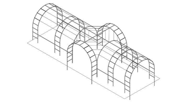 Roman Bisecting Linked Arches Design