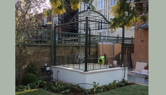 Steel Gazebo Pergola Build 5
