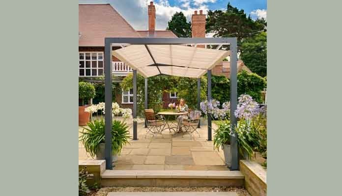 Contemporary Pergola Walkway with Optional Shade