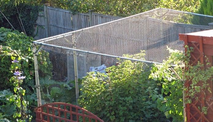 3.5m x 3.2m Bespoke Aluminium Angled Fruit Cage, Mr Moles - Avon