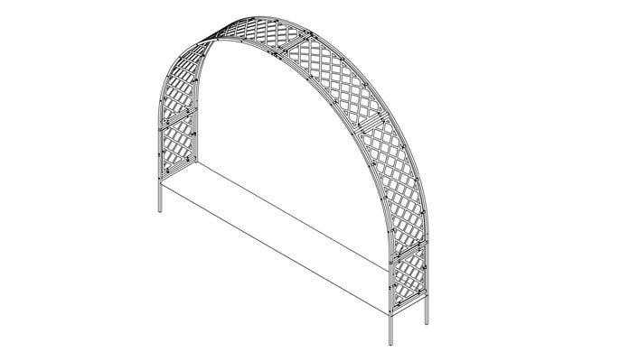 Roman Arch Fully Latticed Design