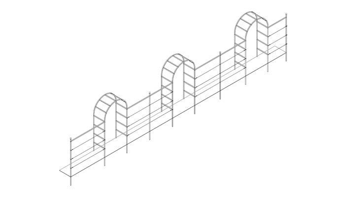 1.2m Triple Roman Arch Fence System Design