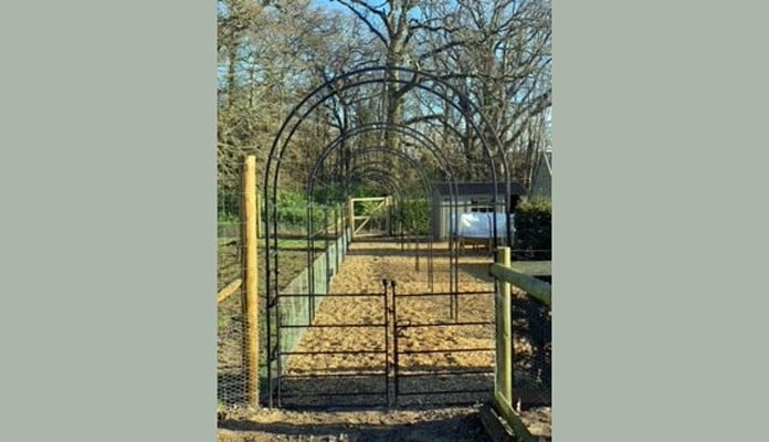 Bespoke Blacksmiths Gate and 25m Linked Arches
