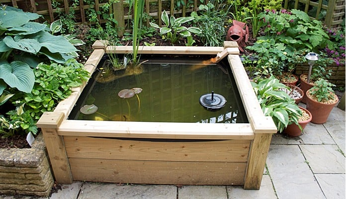4ft x 4ft Raised Bed Pond, Mrs Giles-Bather - Derbyshire