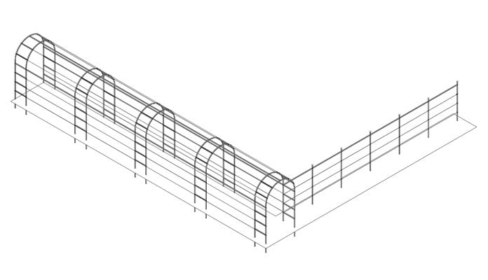 Roman Linked Arch Walkway and Fence System Design