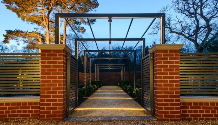 Contemporary Pergola Walkway Lit 1