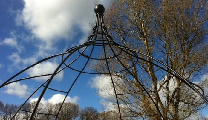 Wire Rose Gazebo in Place 1
