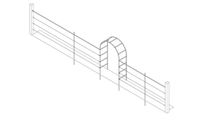 1.5m Roman Arch Fence System Design