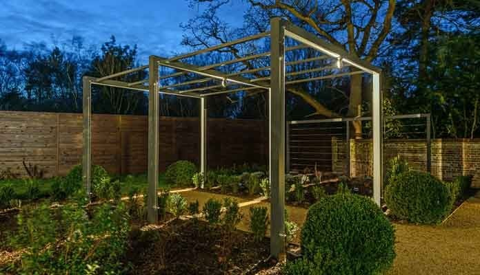 Contemporary Pergola Walkway Lit 2