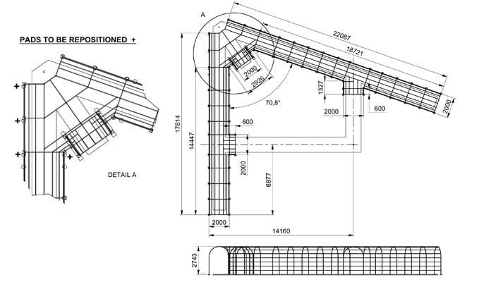 Roman Pergola Walkway CAD Drawing 1