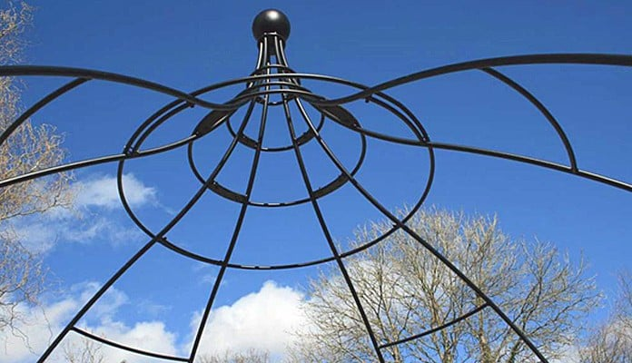 Wire Rose Gazebo in Place 3