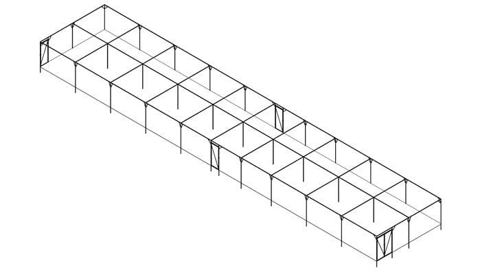 7ft High Steel Fruit Cage with 5 Door Design