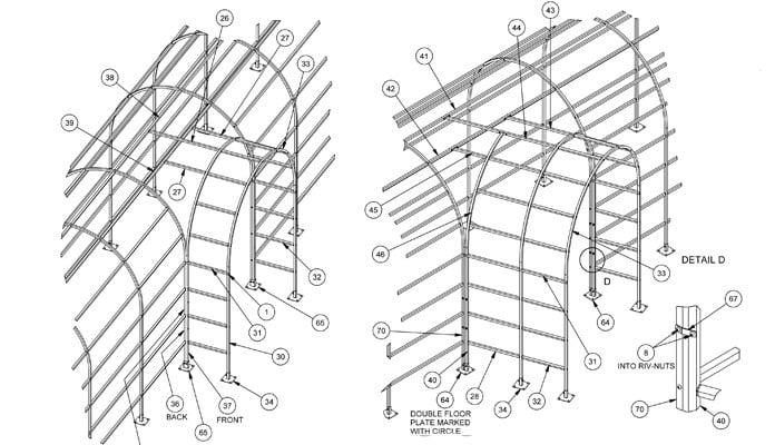 Roman Pergola Walkway CAD Drawing 3