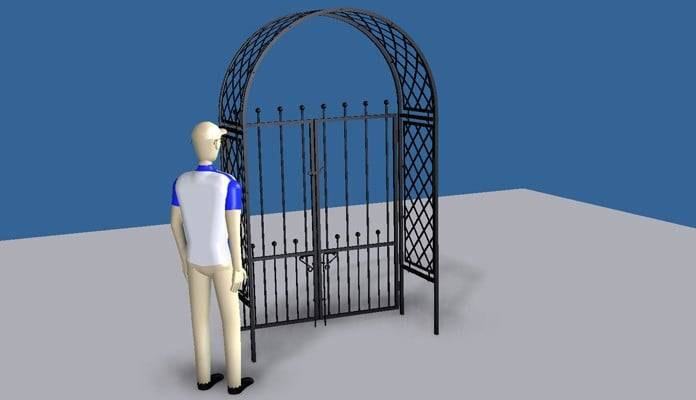 Roman Arch Gate Design 1