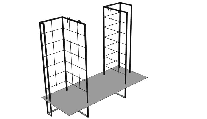 Double Pillar Growing Frame Design 1