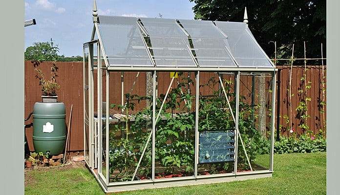 6ft x 8ft Willow Grey Greenhouse, Mr Beard - Northampton