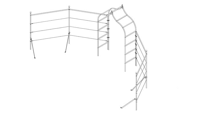 Ogee Arch Angled Fence System Design