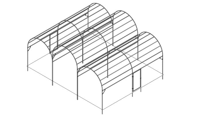 Roman Arch Fruit Cage Design 1