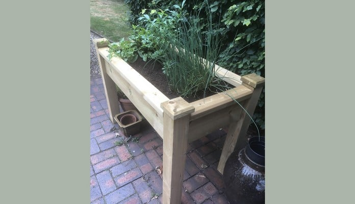 Superior Wooden Raised Bed Table, Mr Harris - Berkshire