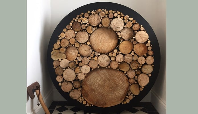 Harrod Circular Steel Log Holder Floor Standing - Mr Spink, Argyll