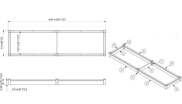 CAD Bespoke 1 Tier Superior Raised Beds