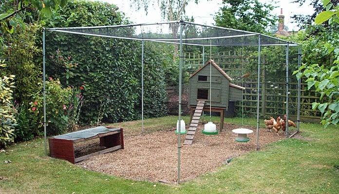 2.5m x 5m Aluminium Poultry Cage, Mrs Ellison - Kent