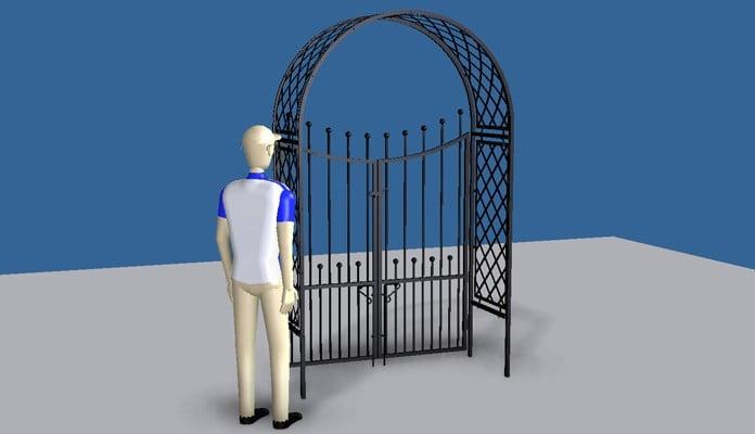 Roman Arch Gate Design 2