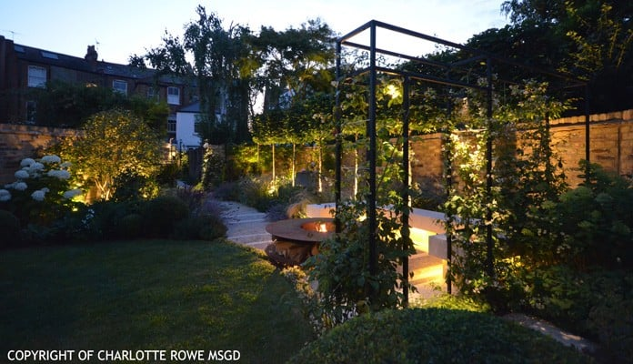 Contemporary Arch Evening, Charlotte Rowe - Charlotte Rowe Garden Design