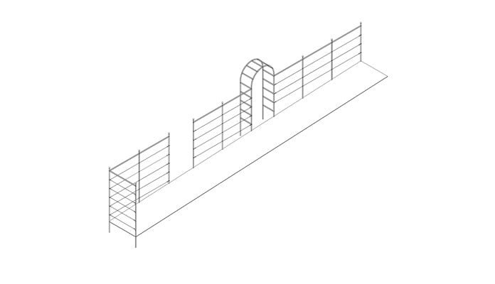 Roman Arch Fence System Design