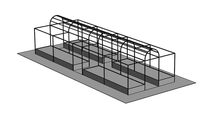 Roman Arch Fruit Cage Design 2