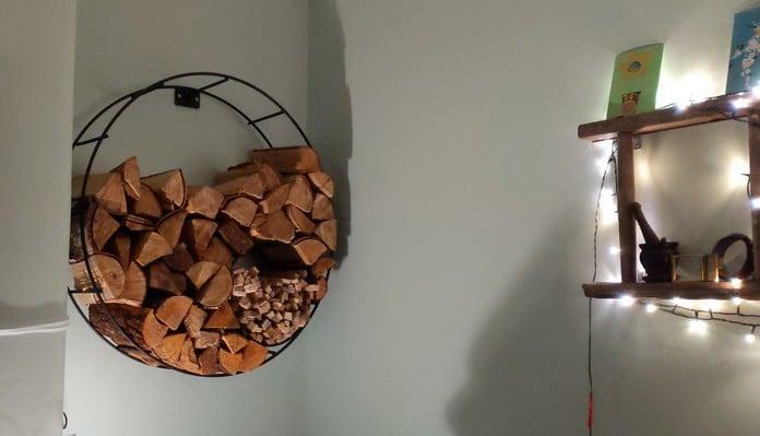 Harrod Circular Wire Log Holder Wall Mounted, Mrs W - Somerset
