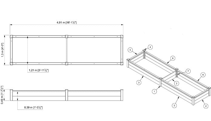 CAD Bespoke 2 Tier Superior Raised Beds