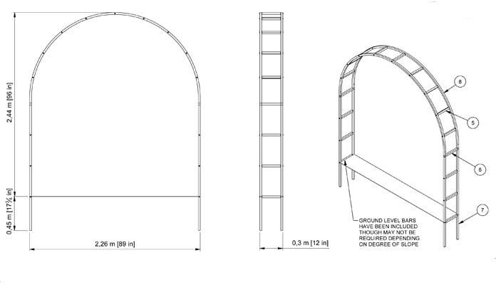Roman Arch CAD Drawing