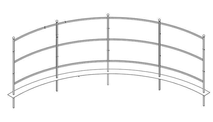 Curved Fence Design