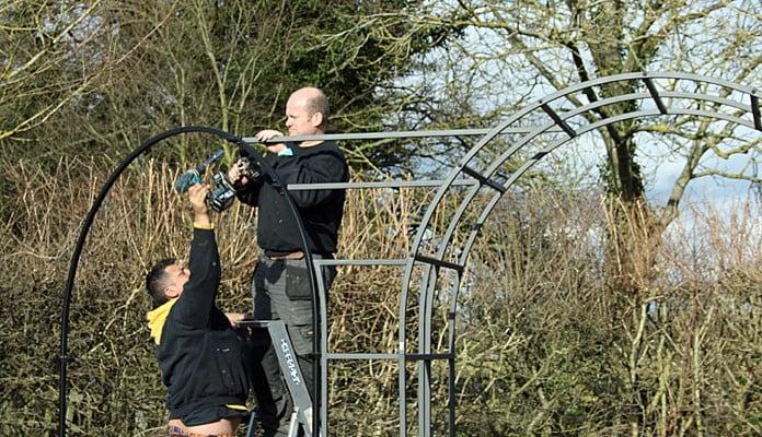Landscapers Installing 1