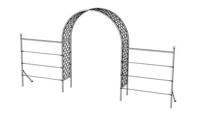 Roman Lattice Arch Fence System Design