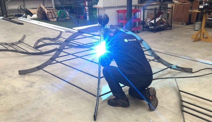 Steel Gazebo Pergola Production 3