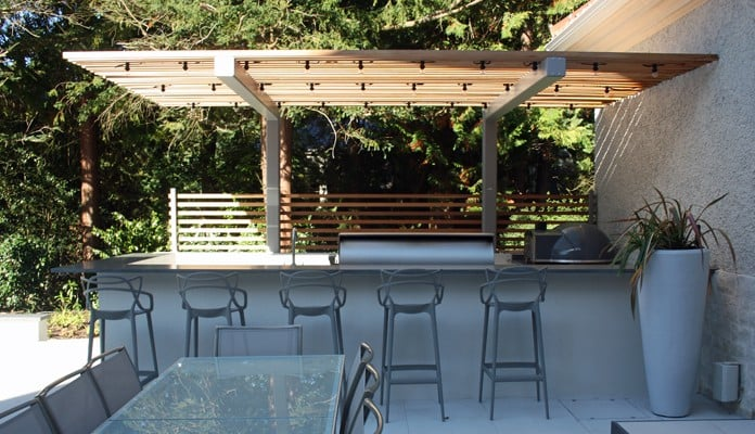 Cantilever Pergola for Outdoor Kitchen 3