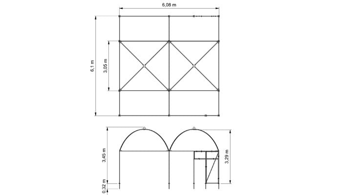 Dovecote CAD Drawing 1