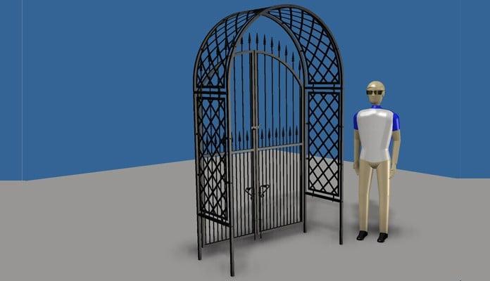 Roman Arch Gate Design 4