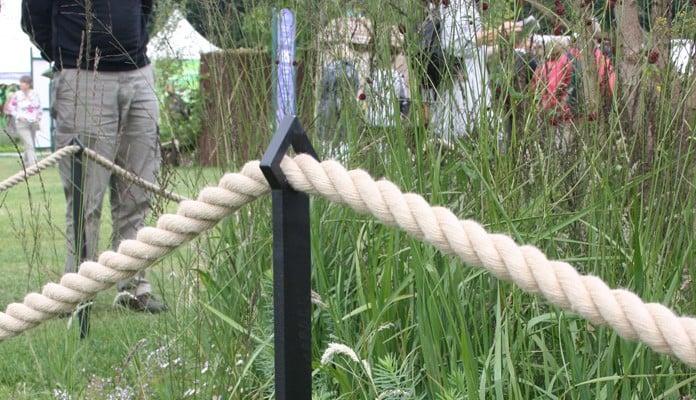 Boundary Fence round RHS Tatton Show Garden