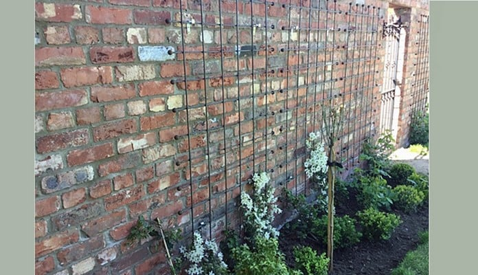 ARC-402 Rust Decorative Wall Trellis Panels, Mrs Allmond, Lincolnshire