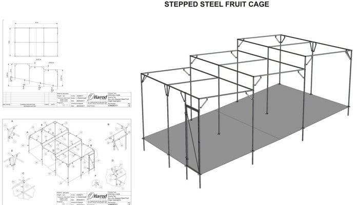 Stepped Fruit Cage CAD Drawing