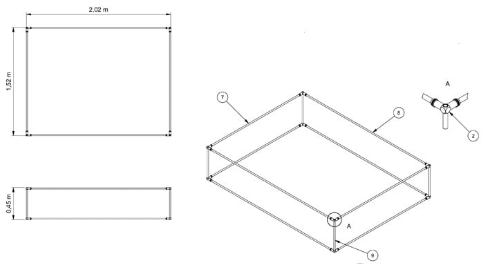 Pond Cover Slot and Lock CAD Drawing