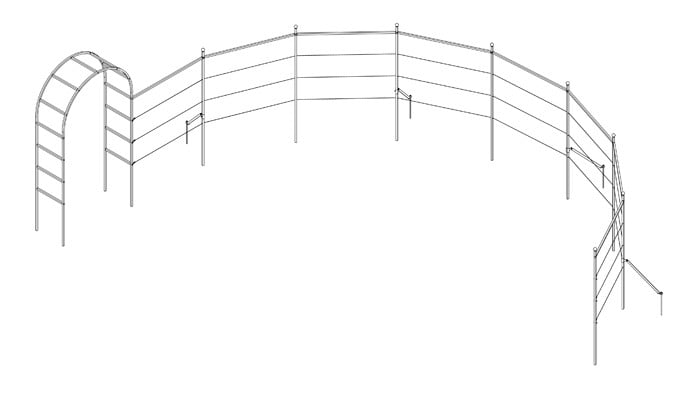 Roman Arch with Semi Circle Fence System Design