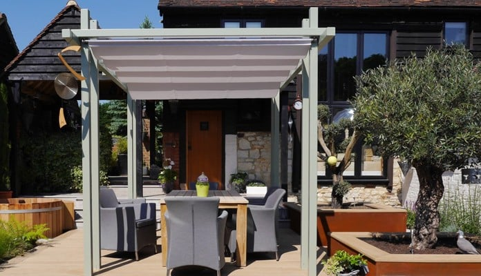 Contemporary Pergola Gazebo with Shade