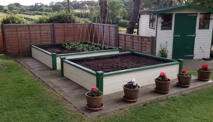 6ft x 8ft and 8ft x 8ft Superior Raised Beds, Mr Chambers - Isle of Wight