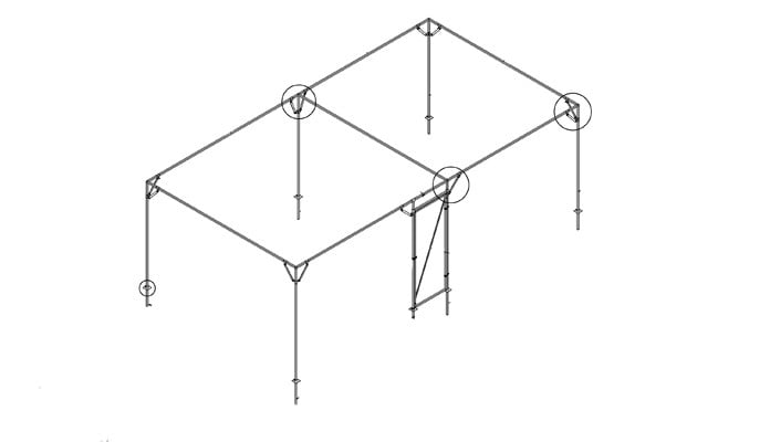 Bespoke Steel Fruit Cage CAD