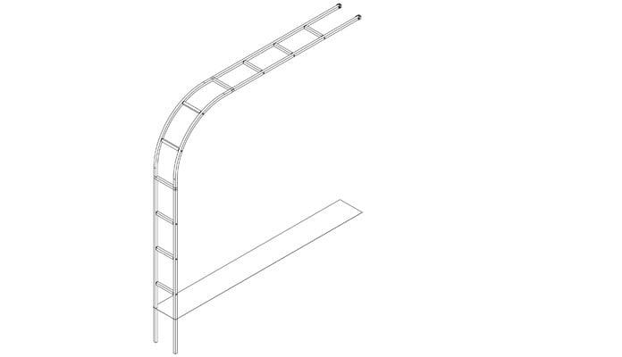 Ellipse Lean To Wall Arch Design