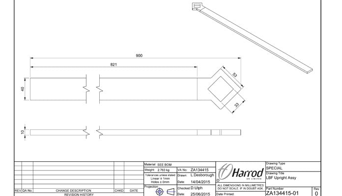 Boundary Fence round RHS Tatton Show Garden CAD